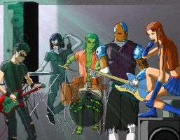 bowling for teen titans by jade-the-G