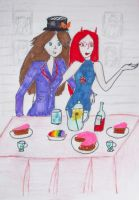 Kat and Hell and a tea party by Winxhelina