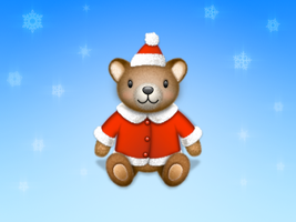 Teddy bear Santa icon by wakaba556