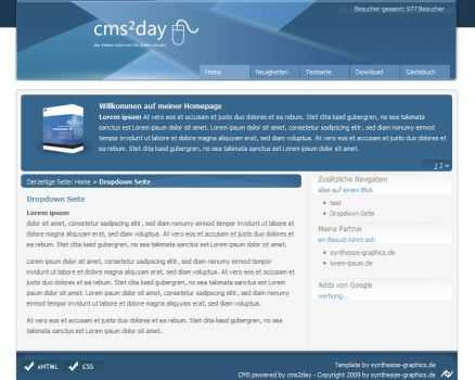 cms2day Template blue by syni-e