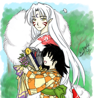 Inuyasha--Fluffy and Rin 7 by majochan
