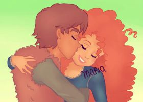 Happiness | Merida and Hiccup by Ribon95
