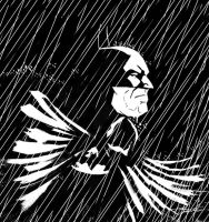Batman in the Rain by TomValente
