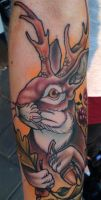 Jackalope tattoo by WillemXSM