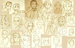 Avatar :tLA Sketches II by Saiai-san
