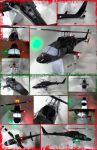 Bell 222 (Airwolf) Papercraft by Mironius