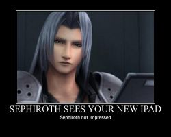 Sephiroth ees your new Ipad by PhantomSephiroth