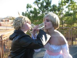 Roxas and Namine Wedding by elfgirllithirnial