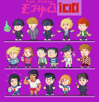 Mob Psycho Sprites by CaptainQuestion