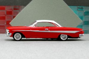 1961 Chevrolet Impala - red sl cotd - Revell by Deanomite17703cotd