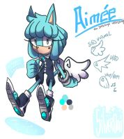 Aimee the SadAngel hedgehog by Zubwayori