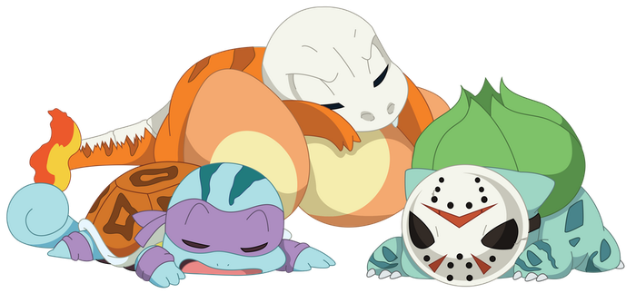 Kanto Starters (Halloween Edition) by spd243