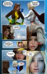 Power Girl meets Rogue Page1 by prizm1616