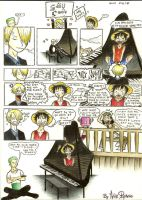 A Sanji and Luffy Comic by eliseytook