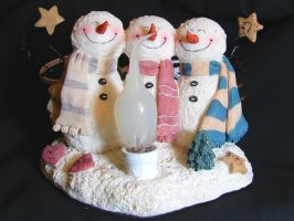 3 Winter Snowmen by FantasyStock