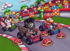 Mario Kart MLP - Stormy and Akira Commission by Cazra