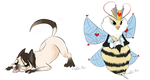 A Puppy And A Bee by Rodent-blood