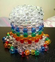 Rainbow Mini Kandi Top Hat by anne-t-cats