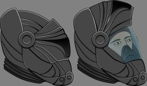 Vampire Hunting Armour: Helmet Concept by teletran