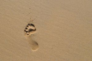 Footprint in the sand by md198