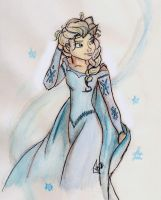Queen Elsa - Frozen by PazGranger