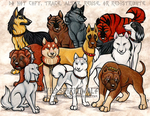 GNG Dogs Commission by WildSpiritWolf