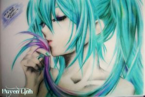 Hatsune Miku drawing by Huyen-Linh