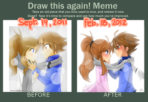 Draw this again meme -Colorless Winter- by yassui