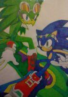 Sonic VS Jet by Sky-The-Echidna