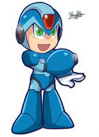 Power Up, Megaman X. by Sallyface