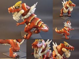Tyrantrum Sculpt Painted-Combo by BanditFrosty
