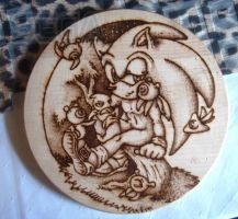 cutting board Sonic with Wisps by Sega-Club-Tikal