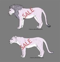 Lion Lineart for Sale by Esava