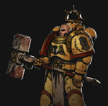 Imperial Fist (Darkest Dungeon style) by TheMaestroNoob