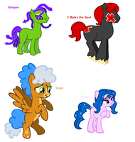 Themed adoptables 81-84 (CLOSED) by BronyBase
