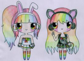Baby Doll and Sugar Pop by Maddie-Pie