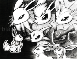 Eevees for Charity by BlazeTBW