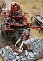 War Mumak with Terrain by Aglaranna83