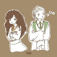 Granger and Malfoy by iiping