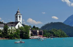 Church on the lake by Pawlu22