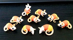Candycornrats by DragonsAndBeasties