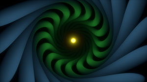 Abstract Blu + Green + Yellow #2 by aad345