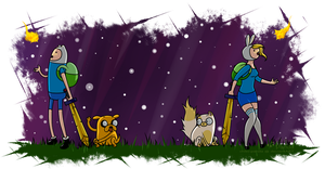 Adventure Time with Finn and Fionna by chibs-panda