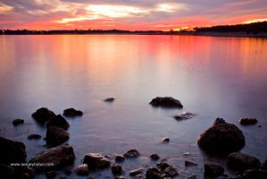 Folsom Lake Sunset. by sergey1984