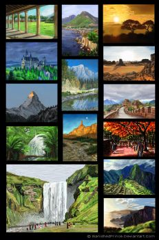 The 14 speedpaint backgrounds by BanishedPrince
