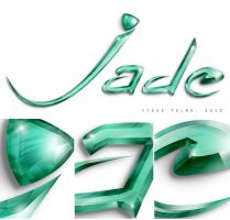 Jade 3D Lettering by palmations