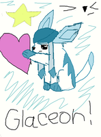 glaceon!!!!!!!! by silvaglace