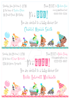 Baby Shower Girl and Boy Invitation Design by SapphireGamgee