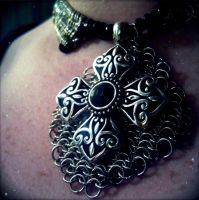 Cross Choker, 6-in1 maille by ulfchild