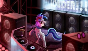 Vinyl Scratch_LOUDER by Tsitra360